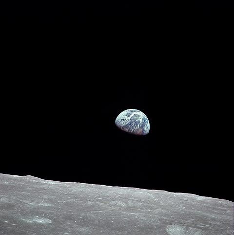 earth rise, Aufgang der Erde über dem Mond, Apollo 8