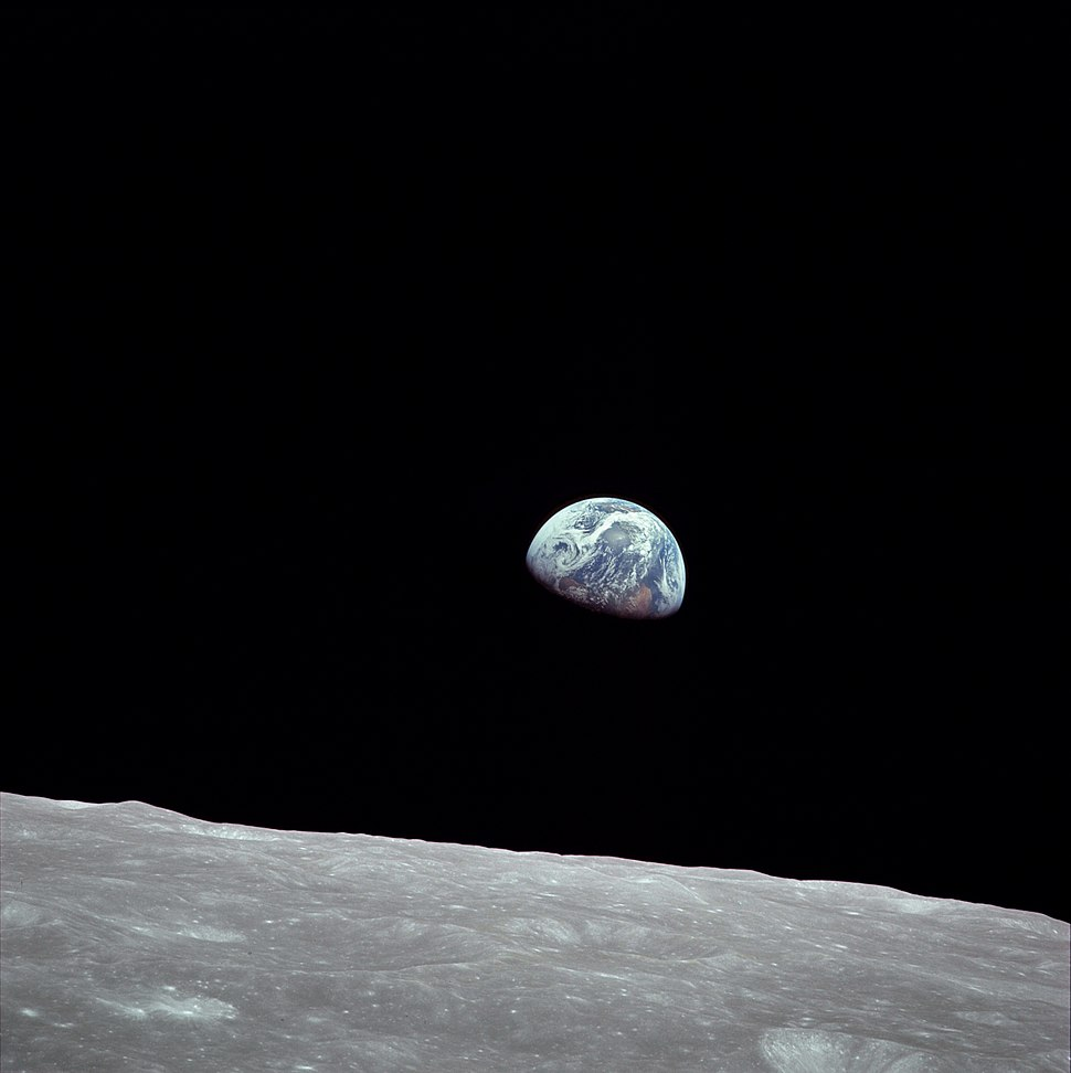 NASA Earthrise AS08-14-2383 Apollo 8 1968-12-24