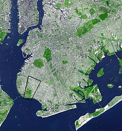 Dyker Heights as seen from space