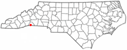 Location of Tryon, North Carolina