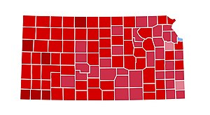 United States presidential election in Kansas, 1984 - Image: NE1984
