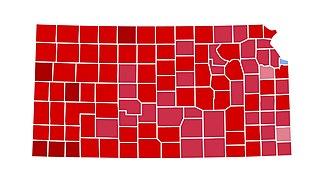 1984 United States presidential election in Kansas - Image: NE1984
