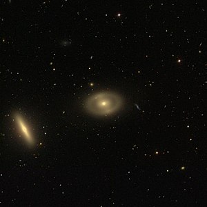 NGC 4340 - Image of the galaxies NGC 4340 (center) and NGC 4350 (bottom left corner)