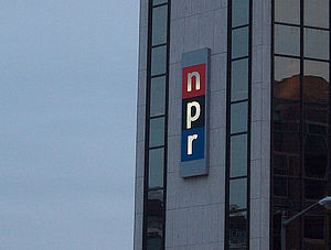 Main NPR building in Washington DC on that sam...