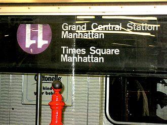 Unused New York City Subway service labels - Image: NYC Subway 11 Train