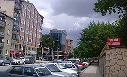 Namık Kemal Avenue in central Burdur