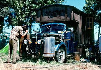 """Housetrucker - Nambassa 1981 """"Gas producer"""" house-truck."""