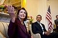 Nancy Pelosi meets Barack Obama, 2009.jpg