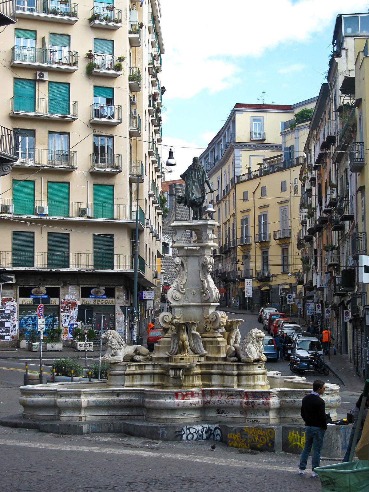 fountain of monteoliveto  naples
