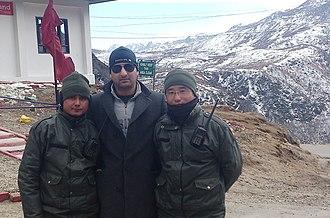 Nathu La - Nathu la pass with soldiers