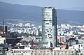 National Bank of Slovakia, view from Nový most viewpoint in Bratislava, Bratislava I District.jpg