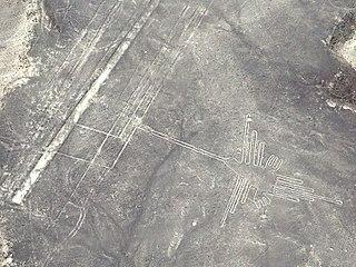 Nazca Hummingbird geoglyph