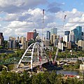 Near finished structure of new Walterdale Bridge with surrounding city of Edmonton, Canada (Sept -2016).jpg