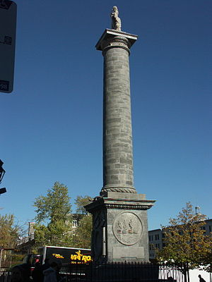 Nelson's Column, Montreal - Image: Nelson Column, Montreal 2005 10 21