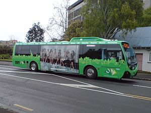 Infratil - A new Link bus near Auckland Hospital