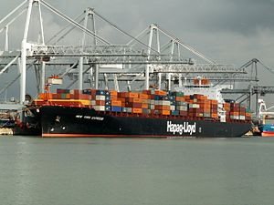 New York Express, at the Amazone harbour, Port of Rotterdam, Holland 11-Feb-2006.jpg
