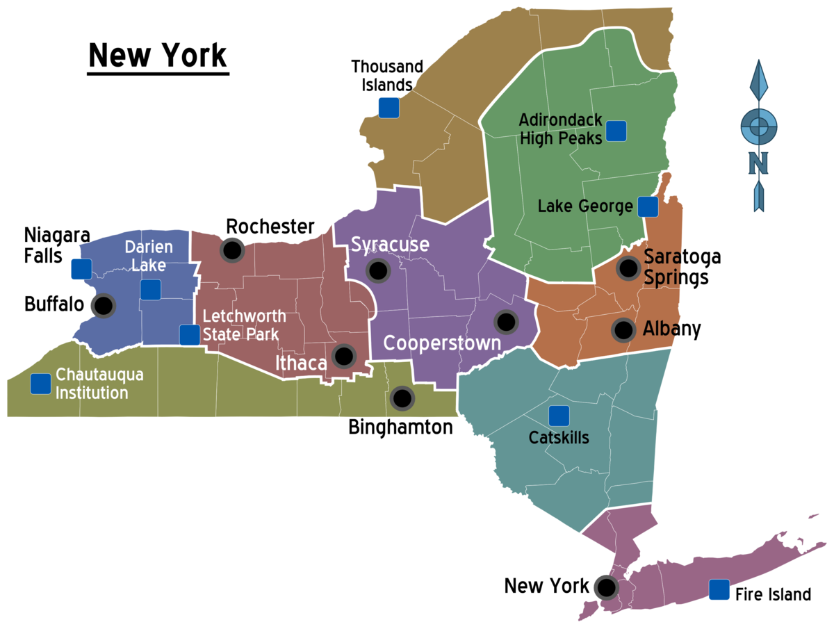 New York State Travel Guide At Wikivoyage - Upstate new york map