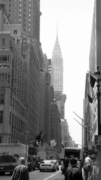 Lexington Avenue - View of Lexington Avenue south from 50th street, with the Chrysler Building in the background