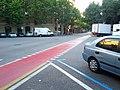 Newly repainted red bike lane (18793057905).jpg