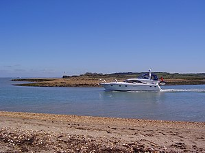 Newtown River - The mouth of Newtown Harbour