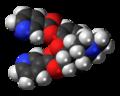 Nicomorphine molecule spacefill.png