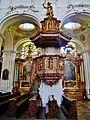Niederaltaich Klosterbasilika St. Nikolaus Innen Kanzel.JPG