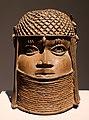 Nigeria, regno del benin, testa commemorativa di re, xvii-xviii secolo.jpg