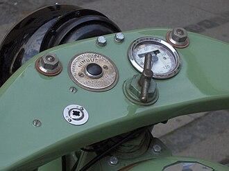Nimbus (motorcycle) - 1937 Nimbus dashboard