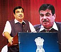 Nitin Gadkari addressing at the inauguration of the workshop on industries issues on Road Safety, in New Delhi.JPG