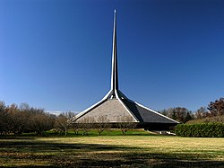North Christian Church, designed by Eero Saarinen, one of the city's modern architectural landmarks