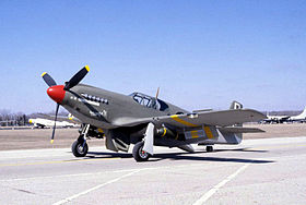 Il North American A-36A Apache esposto al National Museum of the United States Air Force