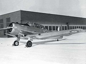 North American NA-64 Yale - RCAF Yale shortly after being taken on strength as an intermediate trainer, at Camp Borden.