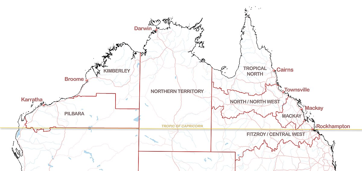 tropic of capricorn australia map Northern Australia Wikipedia