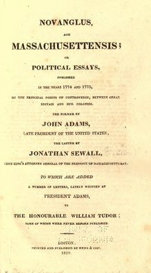 Novanglus, and Massachusettensis, or, Political essays.djvu
