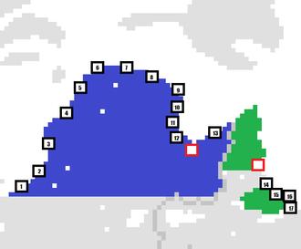 Nunatsiavut - Communities in Nunatsiavut (as well as Nunavik, Quebec). Largest communities in each territory are indicated by red squares (Nain, NL and Kuujjuaq, QC) Other communities: Nunavik:: 1. Kuujjuarapik 2. Umiujaq 3. Inukjuak 4. Puvirnituq 5. Akulivik 6. Ivujivik 7. Salluit 8. Kangiqsujuaq 9. Quaqtaq 10. Kangirsuk 11. Aupaluk 12. Tasiujaq 13. Kangiqsualujjuaq Nunatsiavut: 14. Agvituk (Hopedale) 15. Qipuqqaq (Postville) 16. Maquuvik (Makkovik) 17. Kikiaq (Rigolet)