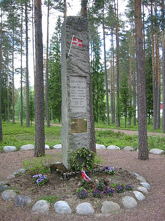 Trysil - War memorial for the bombardment by German aviators