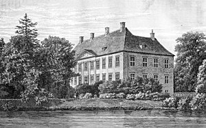 Ewert Janssen - Nysø Manor: drawing from 1872