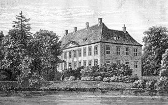 Ewert Janssen - Nysø Manor: drawing from 1872
