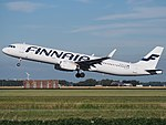 OH-LZN Finnair Airbus A321-231(WL) cn7570 takeoff from Schiphol (AMS - EHAM), The Netherlands pic2.JPG