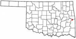 Location of Cowlington, Oklahoma