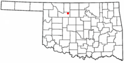 Location of Ringwood, Oklahoma