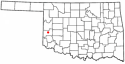 Location of Sayre, Oklahoma
