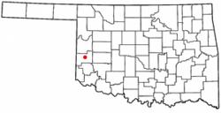 Location of Sayre, Oklahoma