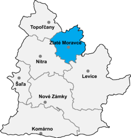 af0913199 Poloha okresu Zlaté Moravce v Nitrianskom kraji (klikacia mapa)