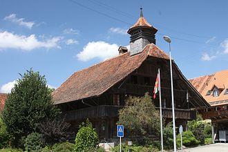 Salvenach - Old school house building