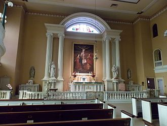 Old St. Joseph's Church - Interior of the church