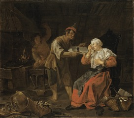 Weeping Woman in a Blacksmith's Shop