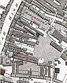 Old and new Marshalsea buildings on a map of Richard Horwood's.jpg