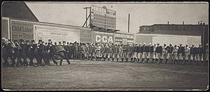 1904 Boston Americans season - Opening day ceremonies at the Huntington Avenue Grounds in celebration of the 1903 World Series Championship by the Americans.