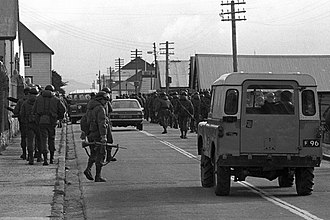 Falklands War - Argentinian soldiers in Port Stanley, 2 April 1982